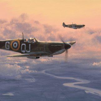 Home At Dusk Spitfire