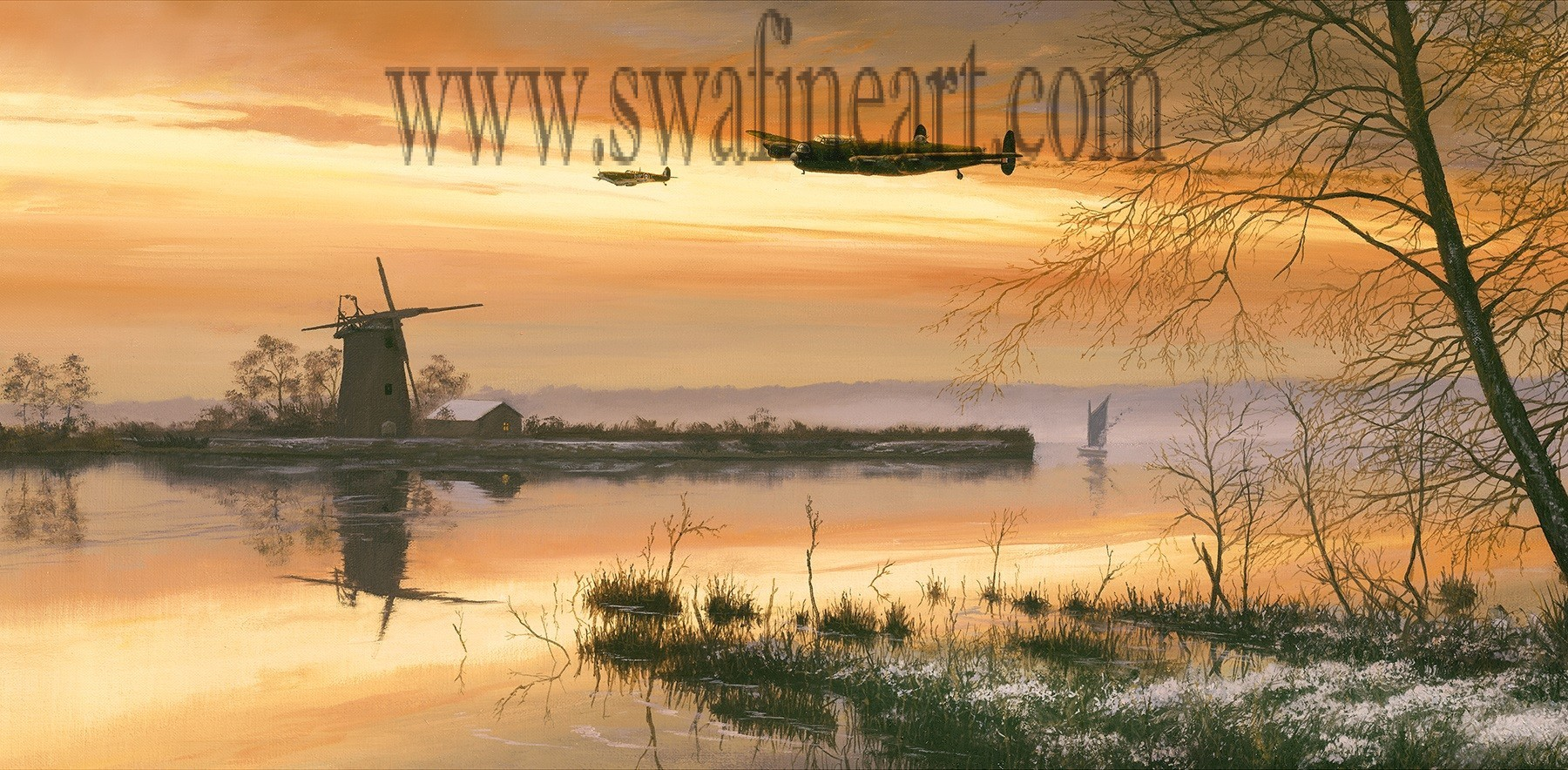 Safe and Sound - Lancaster By Stephen Brown (Cameo Print)