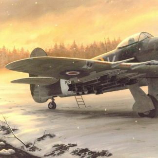 Winter on the Front Line - Hawker Typhoon By Stephen Brown