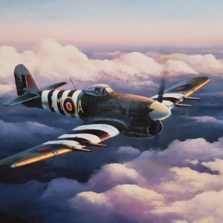 A Break in the Storm - Hawker Typhoon