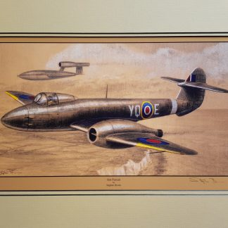 Hot Pursuit - Gloster Meteor By Stephen Brown