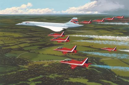 Concorde and the Red Arrows