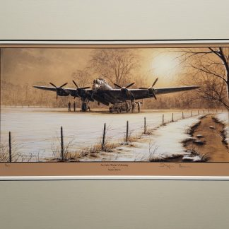 An Early Winters Morning Mounted Limited Edition Pencil Drawing (Stephen Brown Aviation Artist)