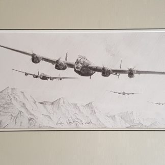 Avro Lancaster Stephen Brown Original pencil Drawing