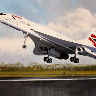 Concorde - The Final Touch Down greeting card