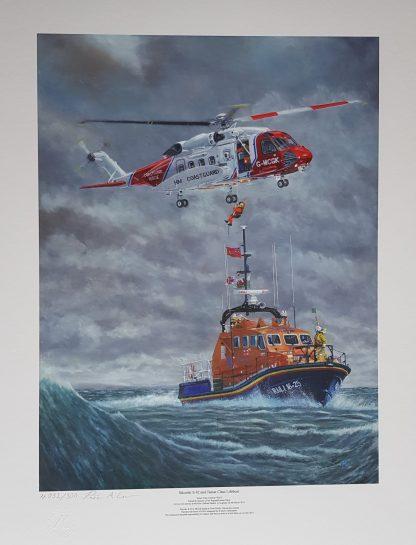 Skorski S-92 and Tamar Class Lifeboat