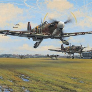 Spitfire Scramble Greeting Card
