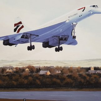 concorde on final approach greeting card